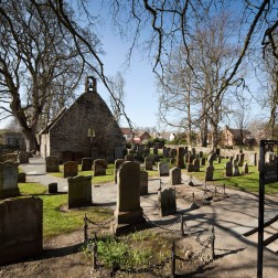 The graveyard and gable end of the Auld Kirk in Alloway, South Ayrshire which featured in Robert Burns classic tale of Tam O ShanterBurns' father, William Burns and his sister, Isabella Burns Begg are buried in the kirkyard Picture Credit : Paul Tomkins / VisitScotland